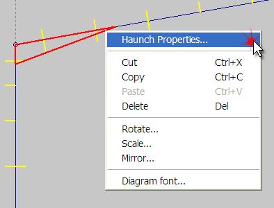 Haunch properties in Quikport