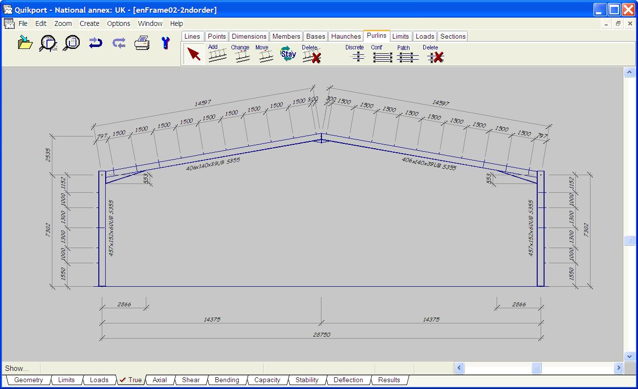 Quikport portal frame diagram